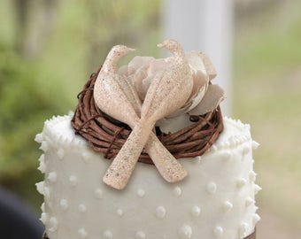 Wedding Cake Top Pick Doves, Dove Cake Top Pick, Wedding Doves Cake Top, Charming Doves Cake Pick