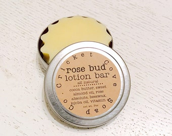 LOTION BAR - Rose Bud Natural Lotion Bar - solid lotion bar - hand lotion - gift for mom