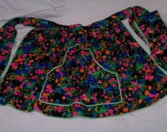 Repurposed  Fabric - Flowered Apron