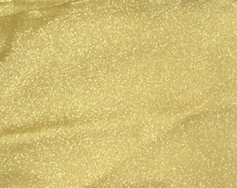 Twinkle Crepon Organza Gold 44 Inch Fabric by the Yard - 1 yard