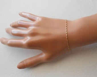 14K Solid Yellow Gold twisted Roped bracelet 7 Inches
