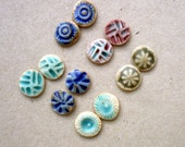 RESERVED Tiny Cabochons, Earring  Flatbacks, Porcelain Cabs,Multi Color   Bead Applique Supplies