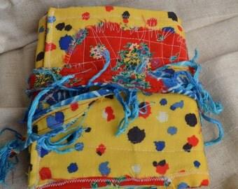 Carnival Fabric Covered Journal, Carnival Junk Journal, Art Journal