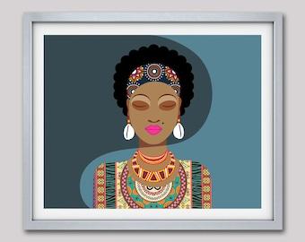 market afrikanische frau dekor