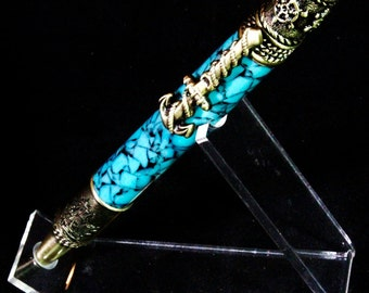 Nautical Hand Made Pen in Blue Cobalt