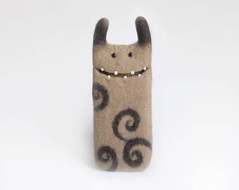 Samsung Galaxy s7 case, wool Monster case, Android case, felt phone case,  Ready to ship