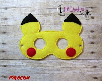Pikachu Pokemon Inspired Childrens Dress Up Mask