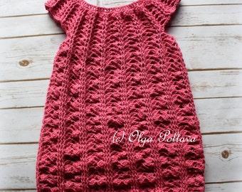 Crochet Girls Dress Pattern, Size 5-6 Years Old, Easy Crochet Pattern