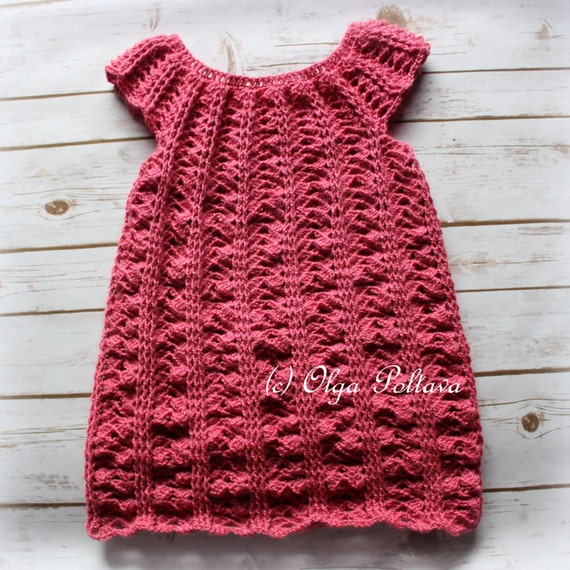 Crochet Girls Dress Pattern, Size 5-6 Years Old, Easy Crochet Pattern