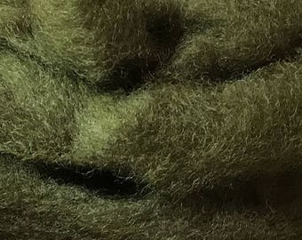 Felting Wool - Hand Dyed - Needle Felting Wool - Spinning Wool - Corriedale/Romney Wool - Lichen
