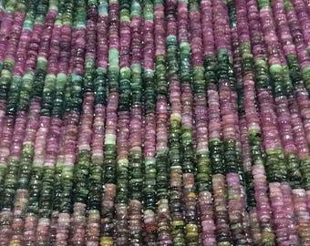 Beautiful tourmaline tire shaped beads