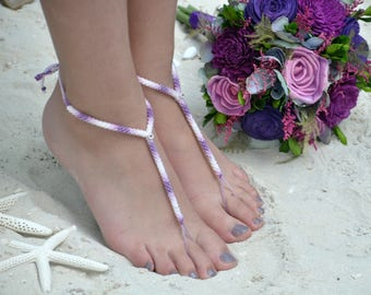 Purple sola bouquet and Beach sandals package,Ready to ship,sola bouquet,Beach wedding,destination wedding,purple beach sandals,coastal wed