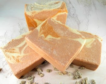 MANGO PAPAYA sea salt soap/salt bar/goat milk soap/homemade soap/gift women/wholesale soap/soap/soap favors/sea salt scrub bar/gift ideas