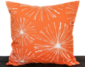 Pillow, Throw Pillow, Pillow Cover, Cushion, Decorative Pillow, orange and white, Sparks Monarch