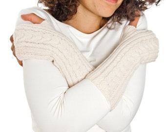 Sleigh Arm warmers From Pure Merino Yarn Texting Gloves Fingerless Gloves Fingerless Arm warmers Woollen Gloves