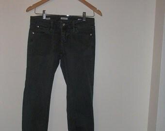 MISS SIXTY JEANS/ Dark Green Distressed Jean/ Low Rise/ Deadstock/ Miss SIxty Jeans