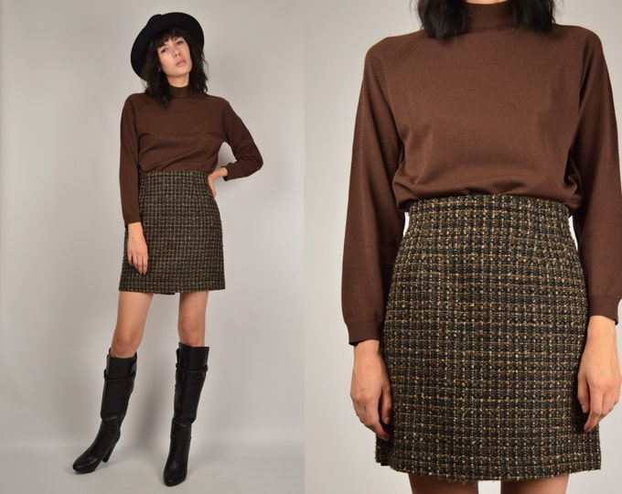 70's Mock Neck Long Sleeve Top vintage deadstock minimalist shirt