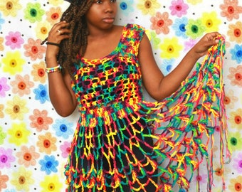 The Wild Child Crochet Dress Pattern. Instant Download!