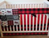 Bumperless Crib Set Little Man