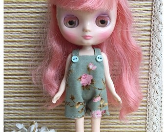 """Middie Blythe Outfit : """"Vintage Roses Dungarees"""" (Dungarees)"""