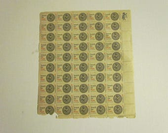 Sheet of 50  5 cent U.S. postage stamps