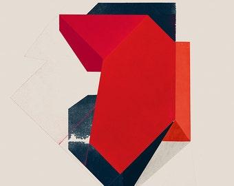 Geometric Wall Art, Abstract Art Print, Minimalist Print, Geometric Art - limited edition (20)