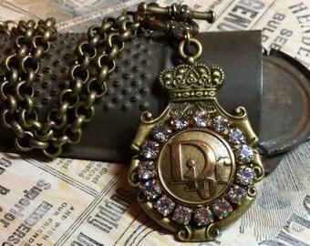 Vintage Christian Dior Button Necklace