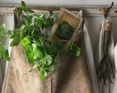 Primitive Grainsack Pocket Pouch~ Vintage Farmhouse