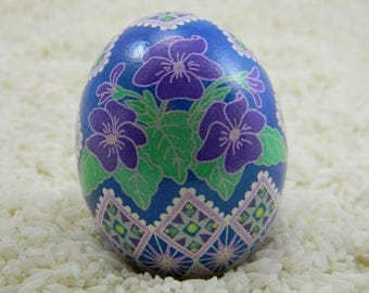 Basket of Violets Ukrainian Egg