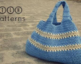 Crochet pattern, crochet bag pattern, crochet handbag, crochet girls tote pattern, Pattern No. 3