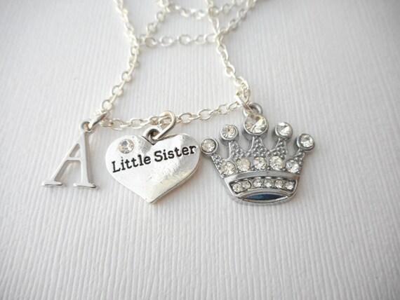 Wedding Gift For Sorority Sister : ... Sorority, Sister love necklace, wedding jewelry gift, sisters gift