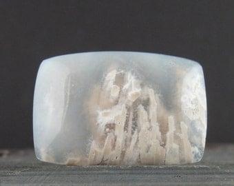 Beautiful Moss Agate cabochon, white moss, Natural stone, Jewelry making supplies B6482