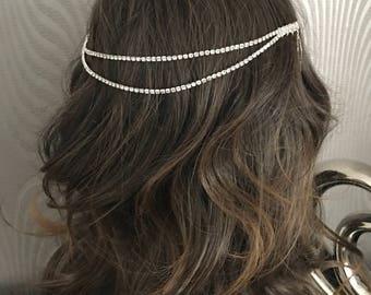 hair chain - bridal hair chain - bridal hair accessories - wedding hair - Hair chain - Boho head chain - Hair accessory - Bridal hair