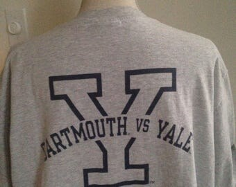 Vintage Yale University vs Dartmouth 1991 Tshirt