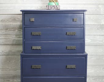 Navy Maple Dresser – Tall