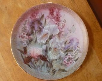 Iris Quartet plate Symphony of Shimmering Beauty 1991 Lens Liu W L George China