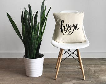 Hygge Pillow Cover • Cozy Modern Farmhouse • Calligraphy Pillow • Rustic Home Decor • Hand Lettered Throw Pillow Cover • FREE SHIPPING