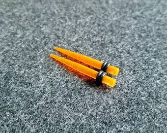 Orange Acrylic Tapers - 2 sizes available!