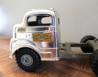 Vintage Structo Timber Toter with rare chrome truck C-3044, 1950's