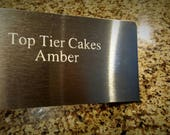 Personalized with Text  Metal Etched Stainless Steel Bench Scraper