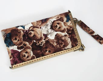 """7"""" kiss lock – Glasses Case or Cell Phone Case, Teddy Bear"""