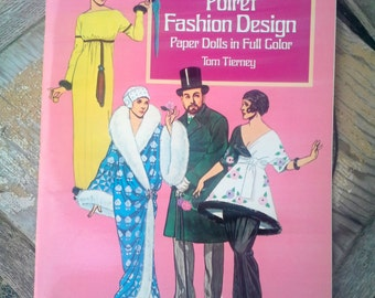 Poiret Fashion Design, Paper Dolls, Vintage book by Tom Tierney, mint condition for children or collectors, fashions of Paul Poiret