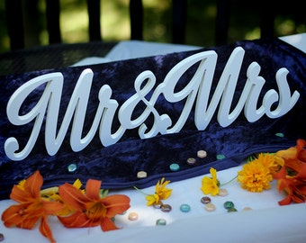 MR & MRS Wedding Table Centerpiece Topper 3D Script Style Custom Art reception anniversary gift idea home decor newlywed decoration gifts