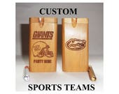 Custom Sports Team Dugout made to order woodburned with one hitter