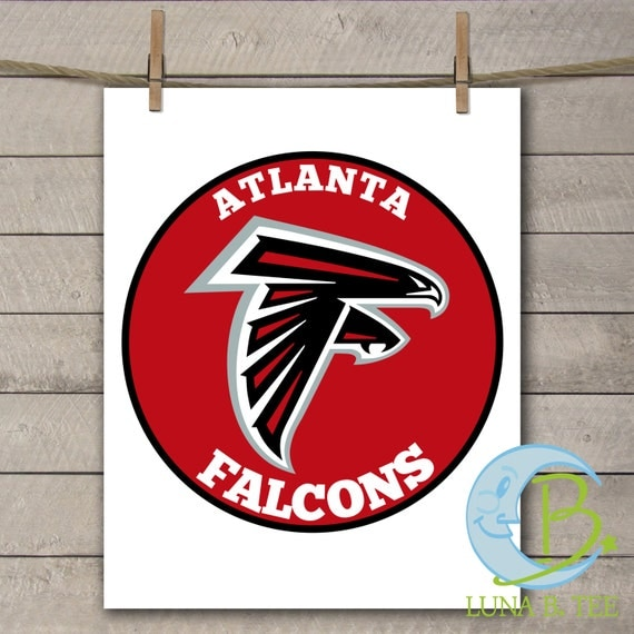 INSTANT DOWNLOAD Atlanta Falcons Super Bowl Printable DIY Iron On to Tee T-Shirt Transfer Do It Yourself - Digital File