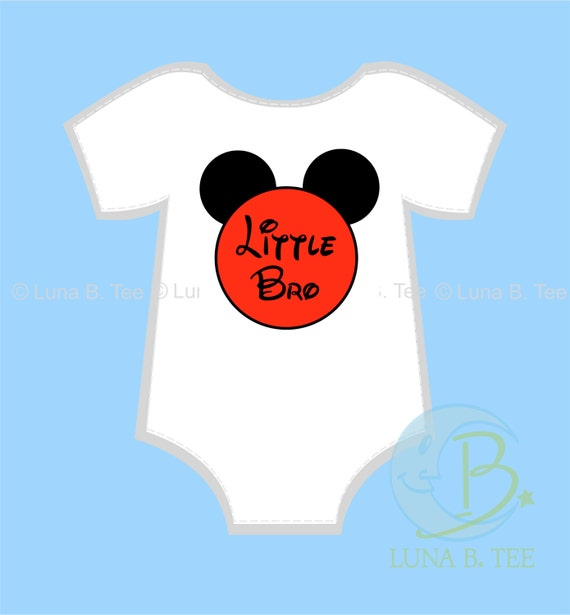 INSTANT DOWNLOAD Disney Little Bro Brother Printable DIY Iron On to Tee T-Shirt Onesie Transfer - Digital File