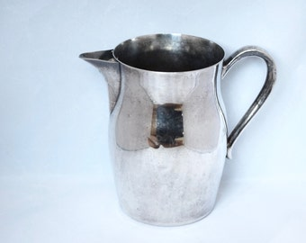 Vintage silver plate pitcher…1984 silver plate trophy...PMH Needlework Show, Best in Show.