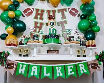FOOTBALL BIRTHDAY BANNER / Football banner / Football birthday party / Sports birthday party / Sports baby shower / Sports decor / Banners