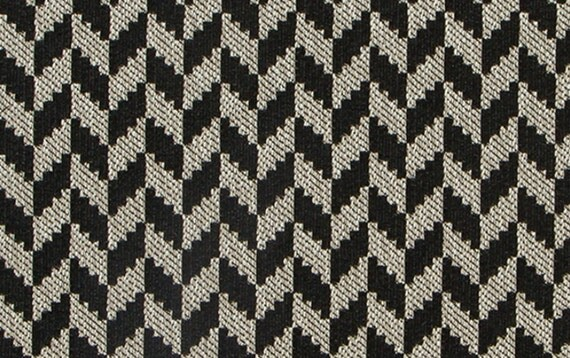 Contemporary Black Upholstery Fabric Modern Black Geometric 54 Inch Home Decor Fabric Custom Black