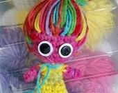 Ragadoo Crochet Amigurumi Trolls Inspired Doll OOAK by GothDollie *Custom Listing for Nora, please do not buy *